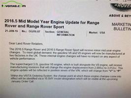 Range Rover HSE 2016 thay đổi dung tích động cơ lên 3,012 cc